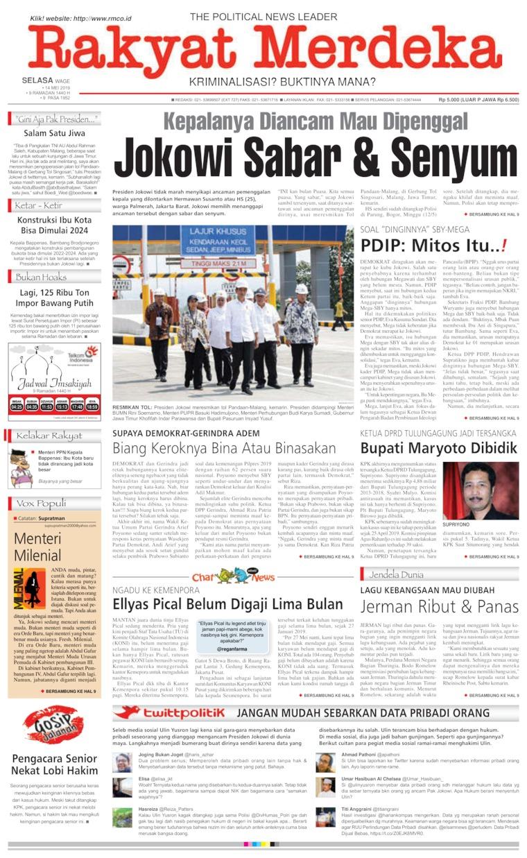 Koran Digital Rakyat Merdeka 14 Mei 2019