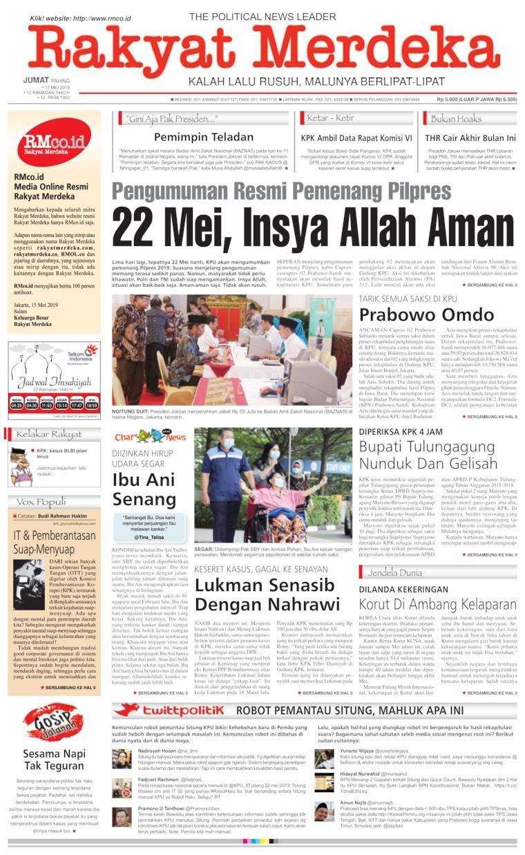 Koran Digital Rakyat Merdeka 17 Mei 2019