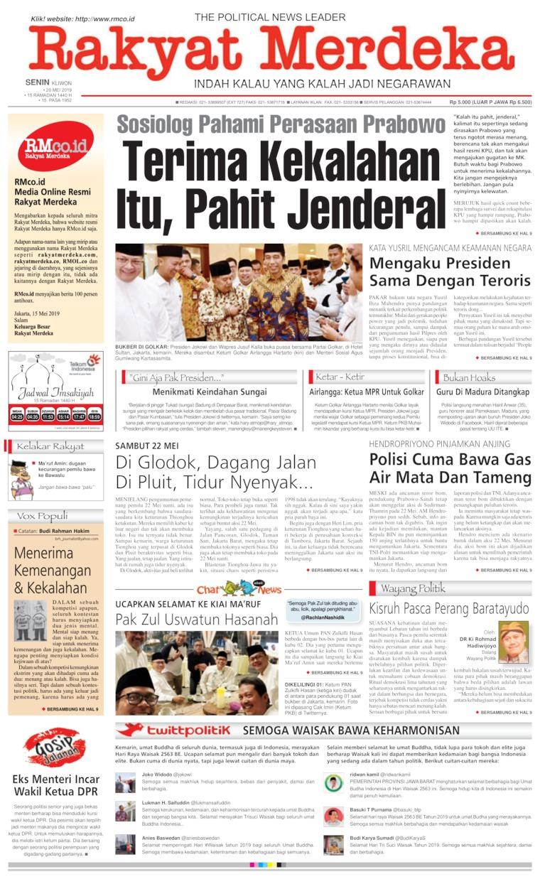 Koran Digital Rakyat Merdeka 20 Mei 2019