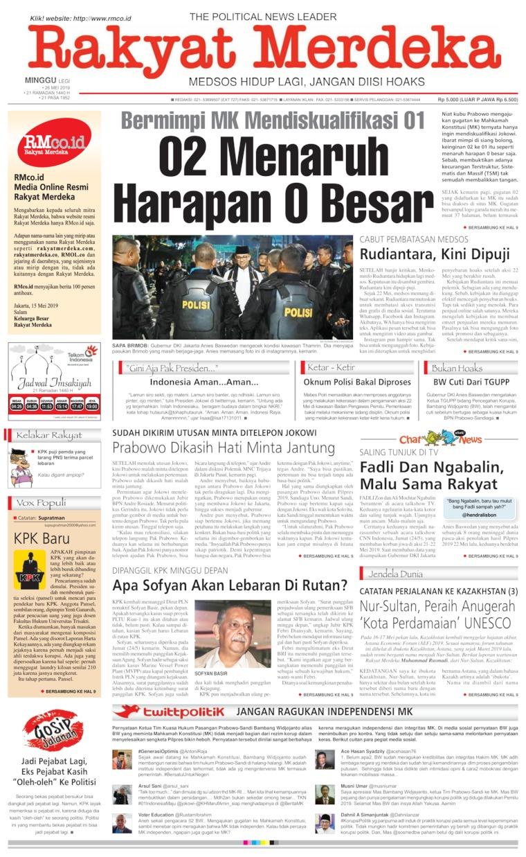 Koran Digital Rakyat Merdeka 26 Mei 2019