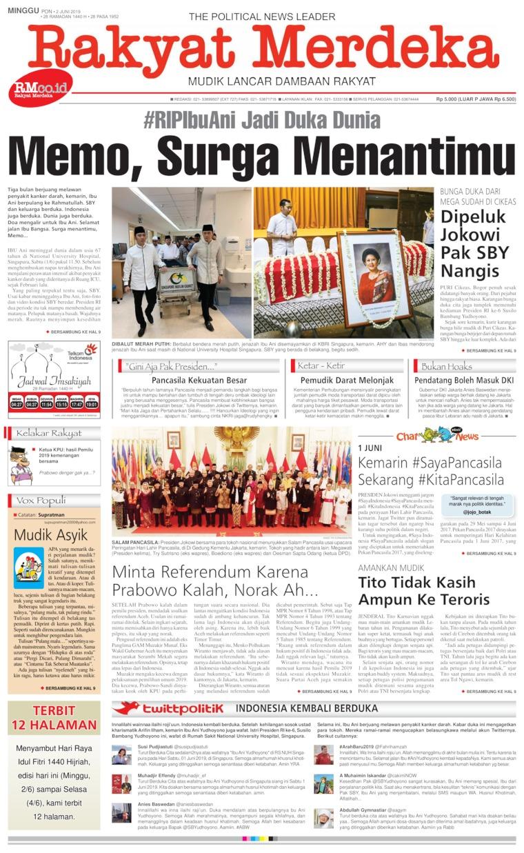 Rakyat Merdeka Digital Newspaper 02 June 2019