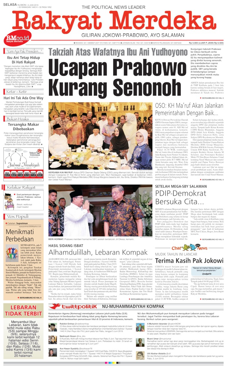 Koran Digital Rakyat Merdeka 04 Juni 2019