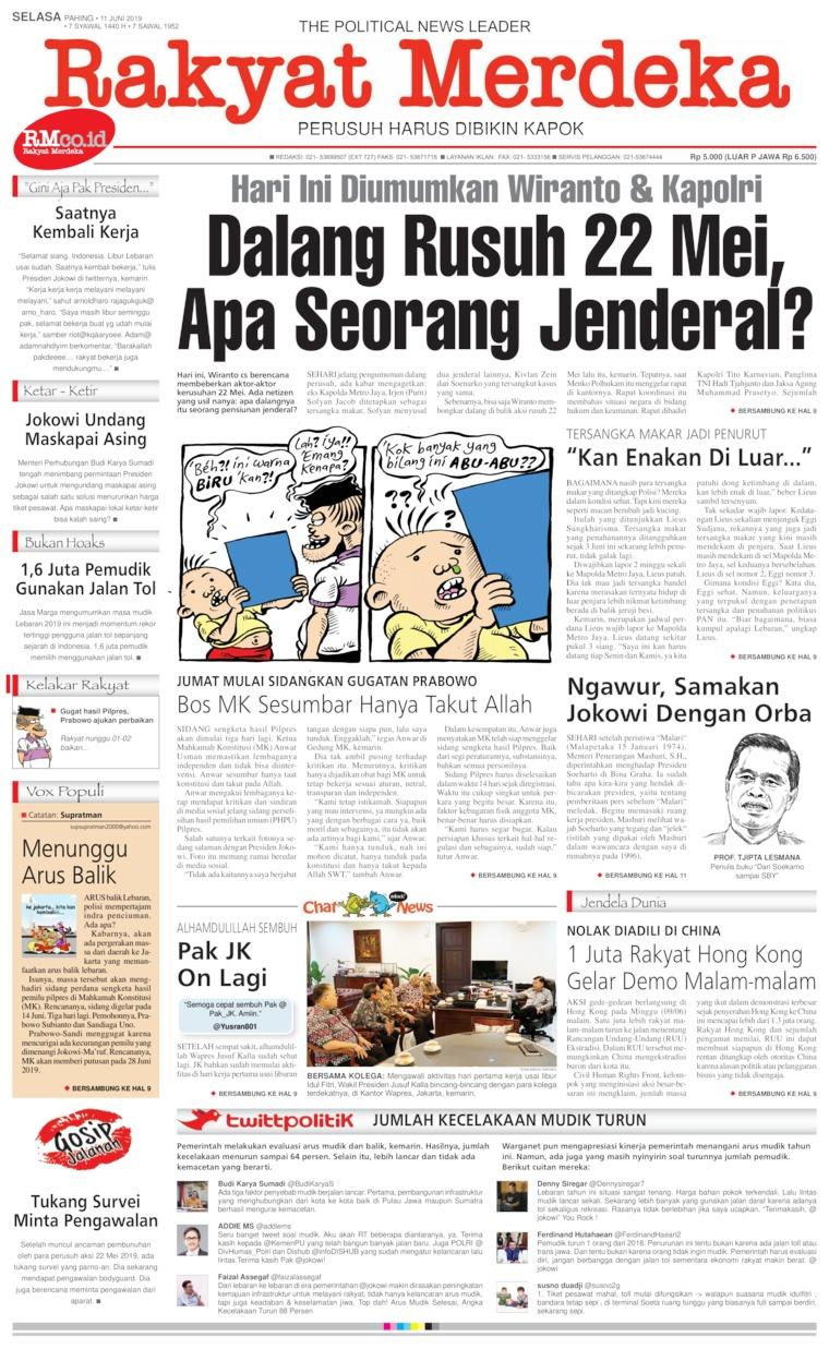 Koran Digital Rakyat Merdeka 11 Juni 2019