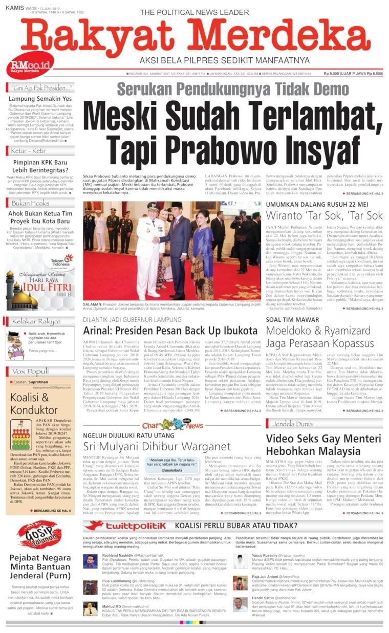 Koran Digital Rakyat Merdeka 13 Juni 2019