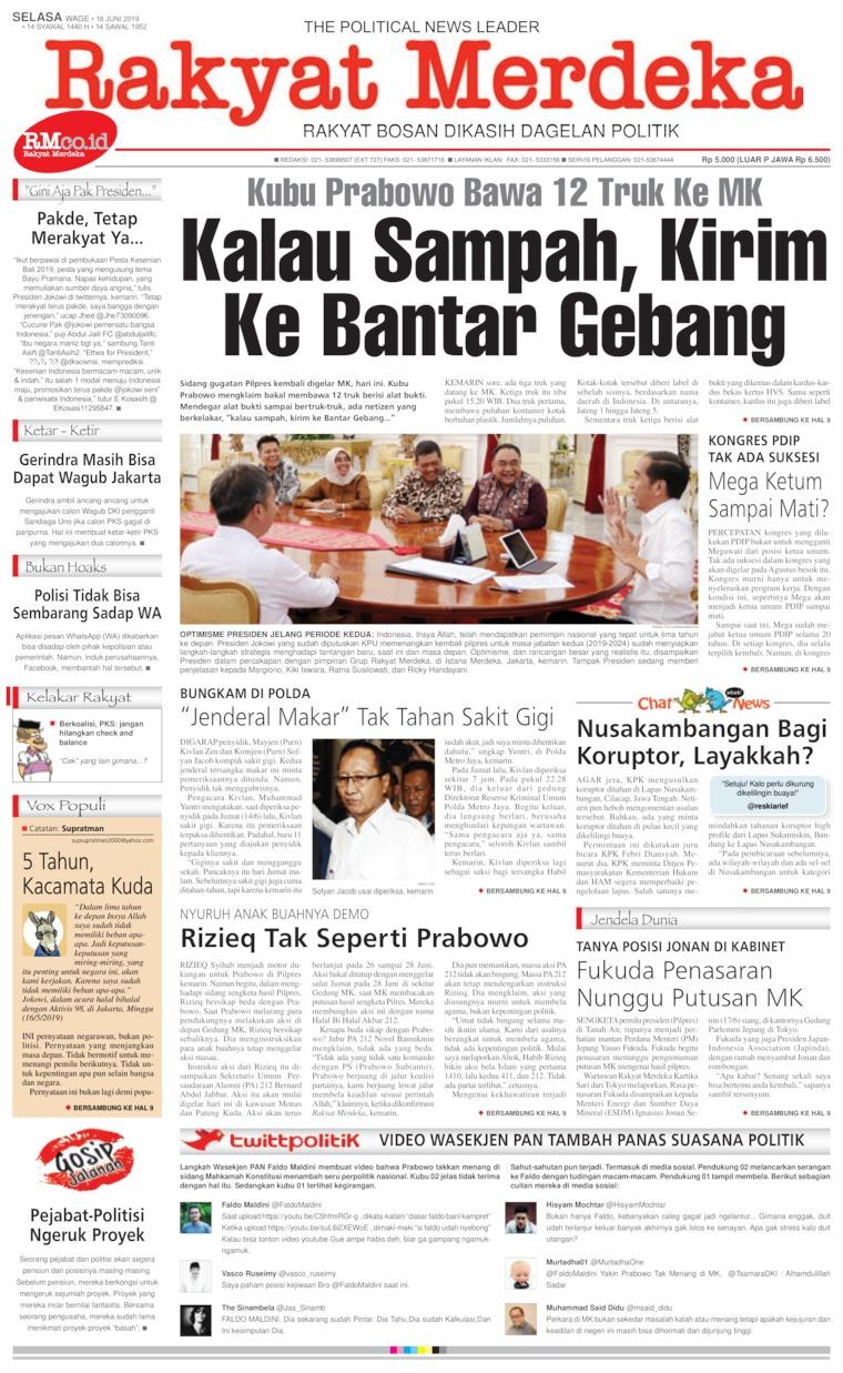 Rakyat Merdeka Digital Newspaper 18 June 2019