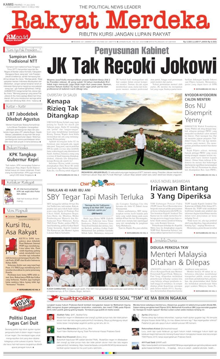 Koran Digital Rakyat Merdeka 11 Juli 2019