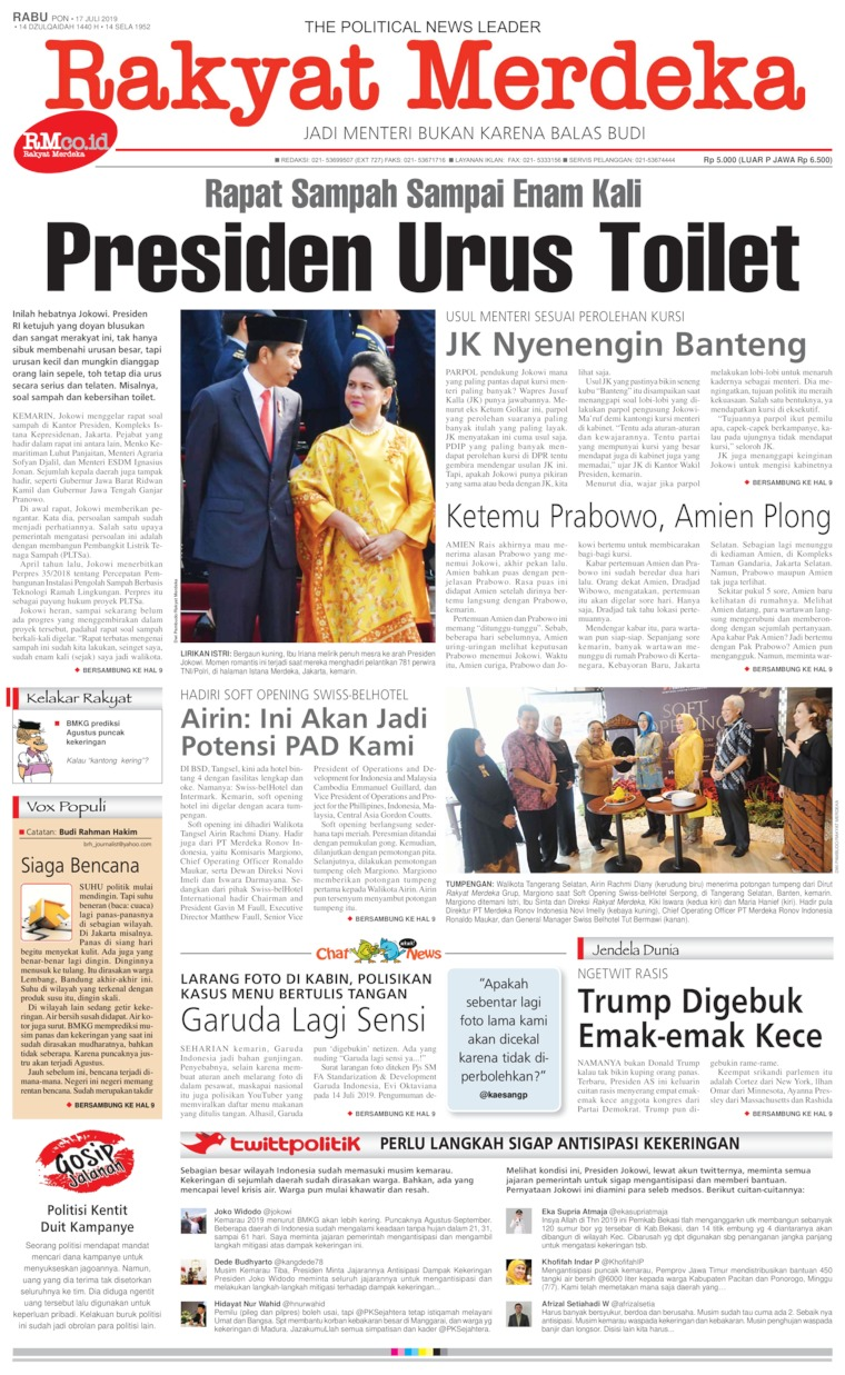 Rakyat Merdeka Digital Newspaper 17 July 2019