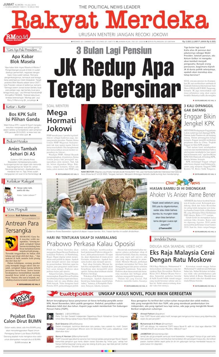 Koran Digital Rakyat Merdeka 19 Juli 2019