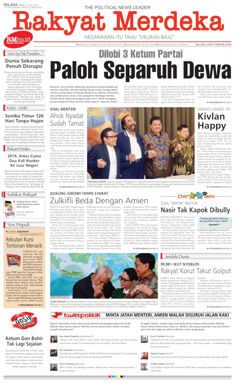 Koran Digital Rakyat Merdeka 23 Juli 2019
