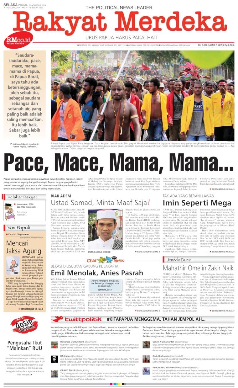 Rakyat Merdeka Digital Newspaper 20 August 2019