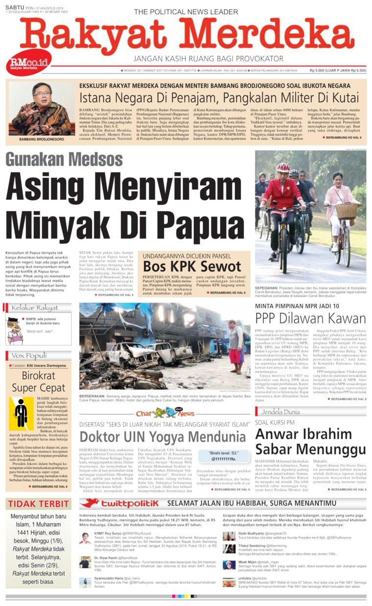 Koran Digital Rakyat Merdeka 31 Agustus 2019
