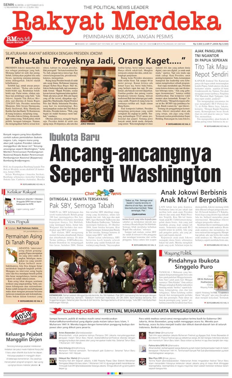 Koran Digital Rakyat Merdeka 02 September 2019