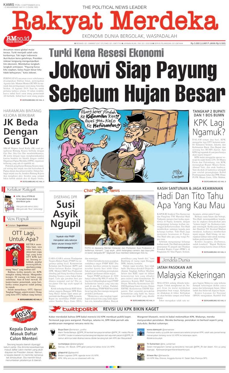 Koran Digital Rakyat Merdeka 05 September 2019