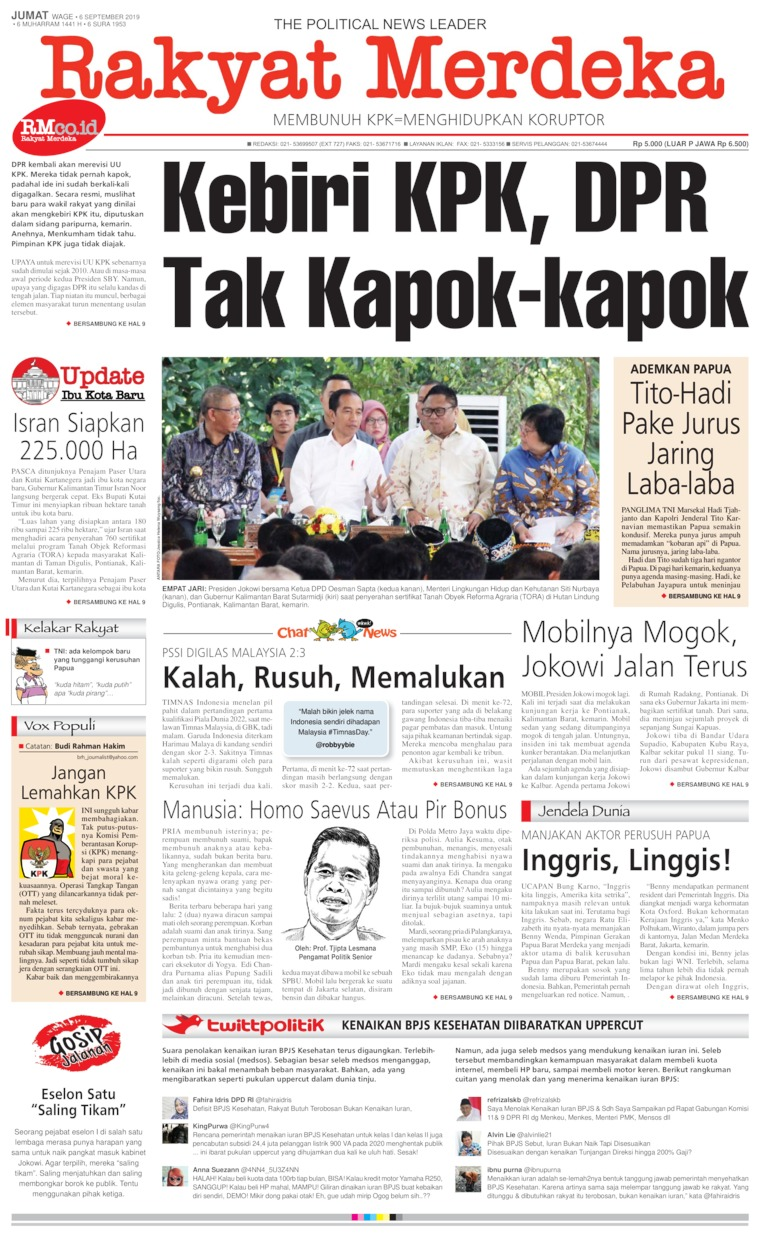Koran Digital Rakyat Merdeka 06 September 2019