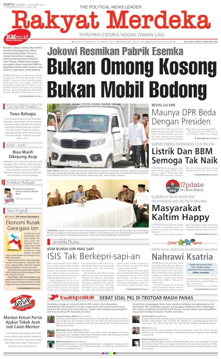 Koran Digital Rakyat Merdeka 07 September 2019