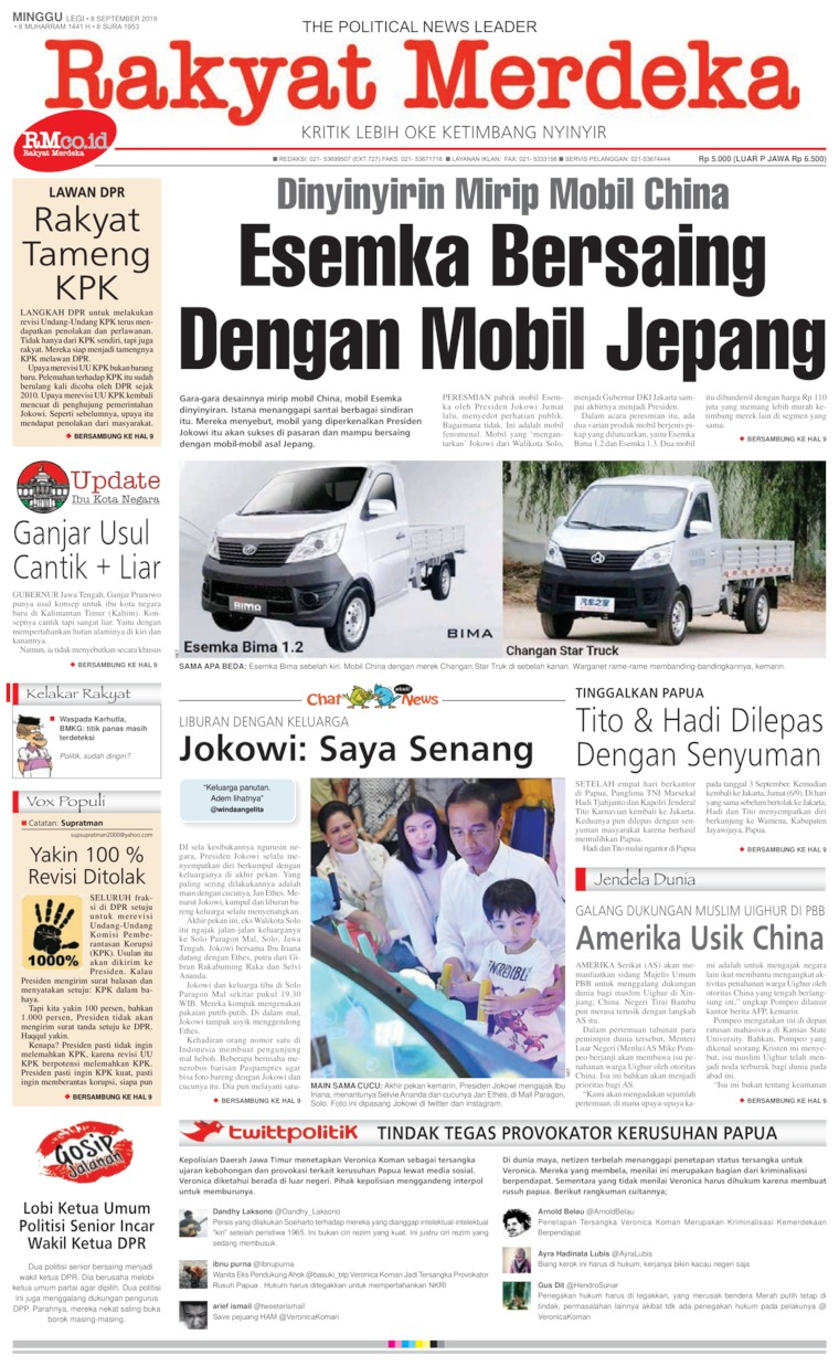Koran Digital Rakyat Merdeka 08 September 2019