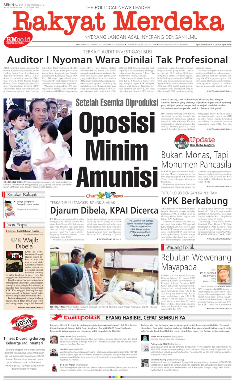 Rakyat Merdeka Digital Newspaper 09 September 2019