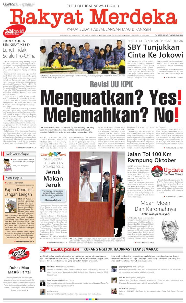 Koran Digital Rakyat Merdeka 10 September 2019