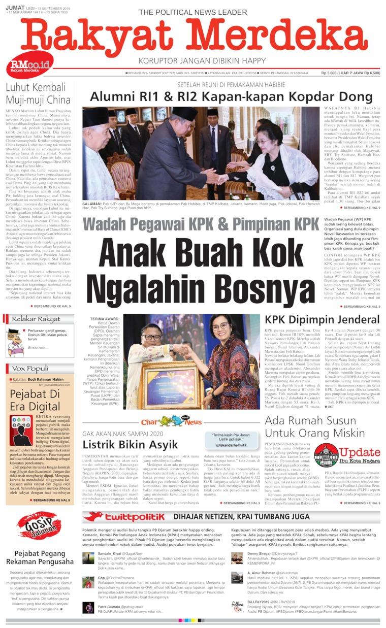 Koran Digital Rakyat Merdeka 13 September 2019