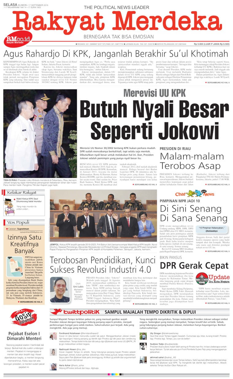 Rakyat Merdeka Digital Newspaper 17 September 2019