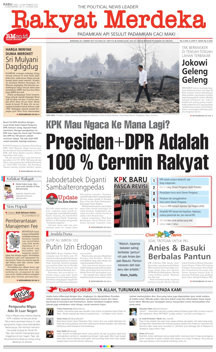 Rakyat Merdeka Digital Newspaper 18 September 2019