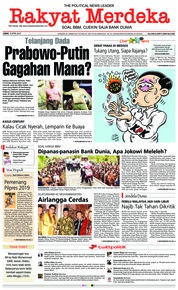 Cover Rakyat Merdeka 13 April 2018