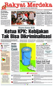 Cover Rakyat Merdeka 20 April 2018