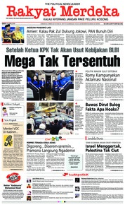 Cover Rakyat Merdeka 21 April 2018