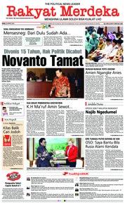 Cover Rakyat Merdeka 25 April 2018