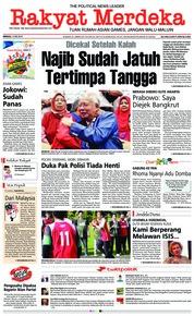 Cover Rakyat Merdeka 13 Mei 2018