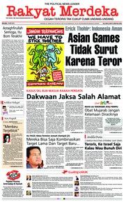 Cover Rakyat Merdeka 15 Mei 2018