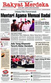 Cover Rakyat Merdeka 20 Mei 2018