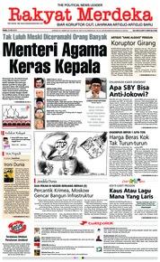 Cover Rakyat Merdeka 23 Mei 2018