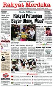 Cover Rakyat Merdeka 27 Mei 2018