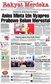 Cover Rakyat Merdeka 08 Juli 2018
