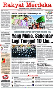 Rakyat Merdeka Cover 07 August 2018