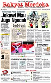 Cover Rakyat Merdeka 20 Agustus 2018
