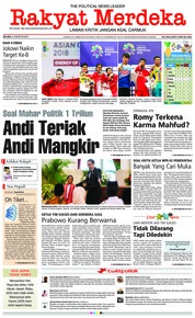 Cover Rakyat Merdeka 21 Agustus 2018
