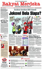 Cover Rakyat Merdeka 12 Oktober 2018