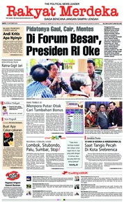 Cover Rakyat Merdeka 13 Oktober 2018