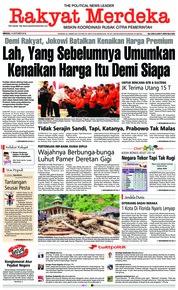 Cover Rakyat Merdeka 14 Oktober 2018
