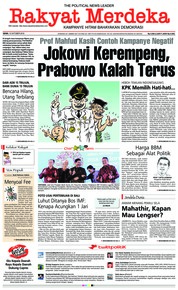 Cover Rakyat Merdeka 15 Oktober 2018