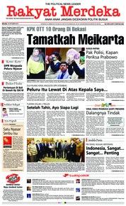 Cover Rakyat Merdeka 16 Oktober 2018