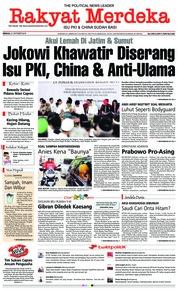 Cover Rakyat Merdeka 21 Oktober 2018