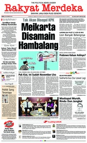 Cover Rakyat Merdeka 02 November 2018