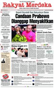 Cover Rakyat Merdeka 05 November 2018