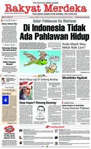 Cover Rakyat Merdeka 09 November 2018