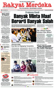 Cover Rakyat Merdeka 14 November 2018