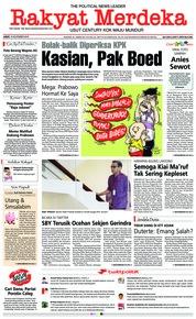 Rakyat Merdeka Cover 16 November 2018