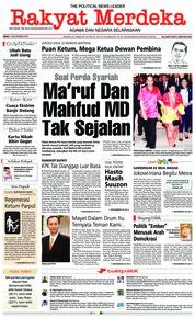 Rakyat Merdeka Cover 19 November 2018